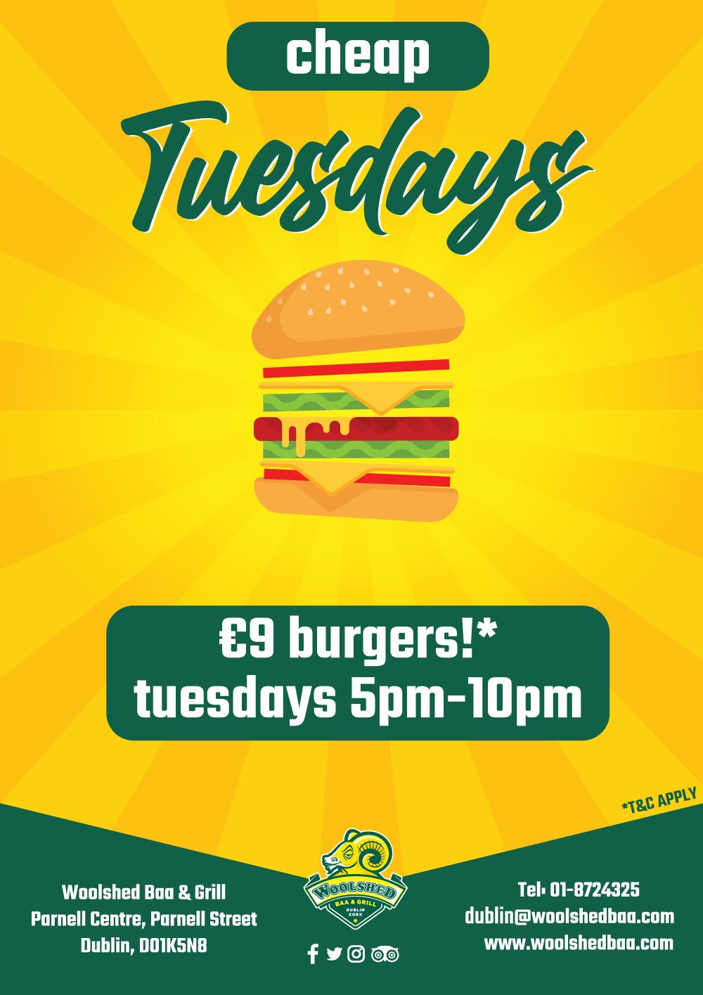 Cheap Tuesdays!